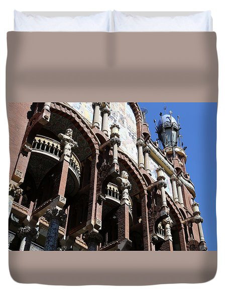 Duvet Cover featuring the photograph Barcelona 4 by Andrew Fare