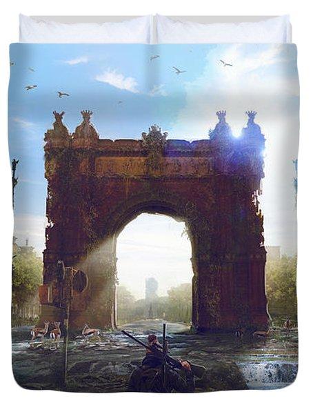 Barcelona Aftermath Arc De Triomf Duvet Cover