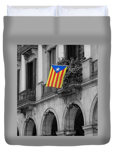Barcelona - Estelada Duvet Cover by Andrea Mazzocchetti