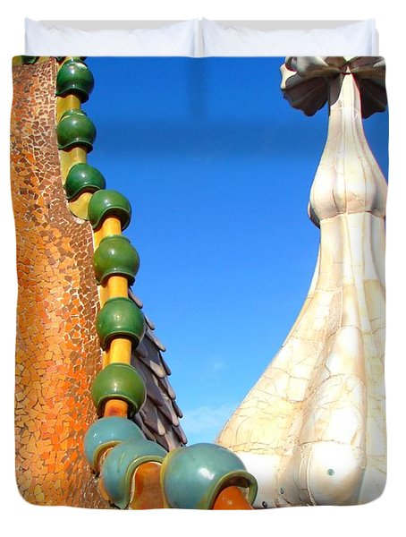 Barcelona Impression 1 Duvet Cover by Ana Maria Edulescu