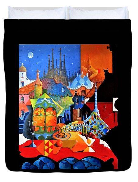 Barcelona Nights Duvet Cover