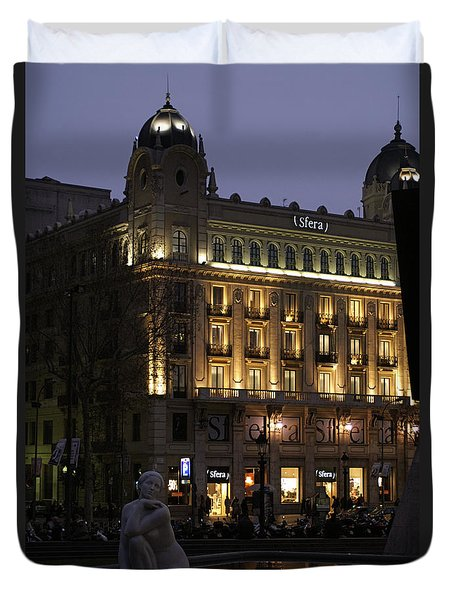 Barcelona Spain Duvet Cover