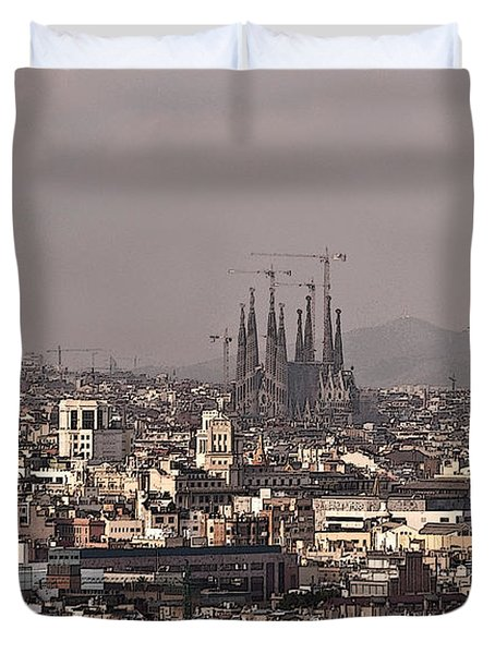 Barcelona Duvet Cover by Steven Sparks