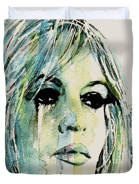 Duvet Cover featuring the painting Bardot by Paul Lovering