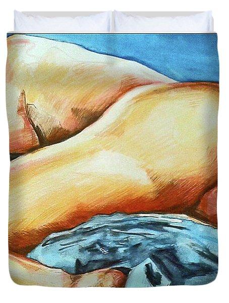 Naked Bare Truth Duvet Cover