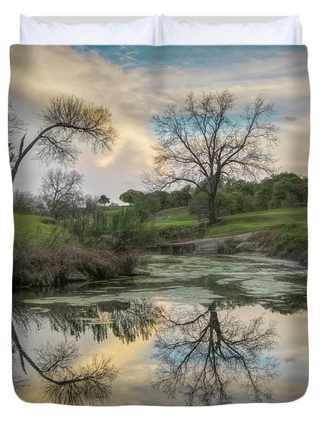 Bare Tree Reflections Duvet Cover
