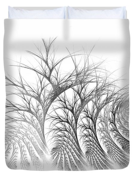 Bare Trees Daylight Duvet Cover