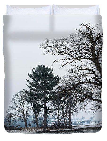 Bare Trees In The Snow Duvet Cover