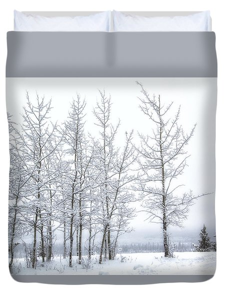 Bare Trees In Winter Duvet Cover