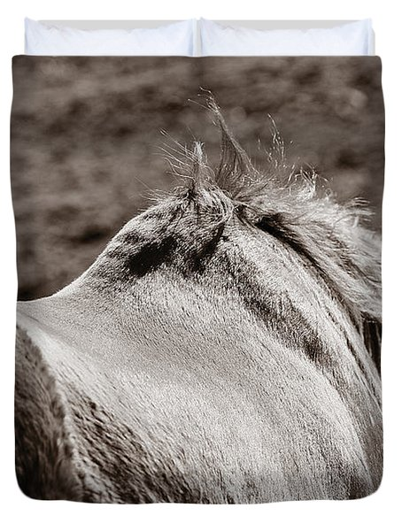 Duvet Cover featuring the photograph Bareback by Angela Rath