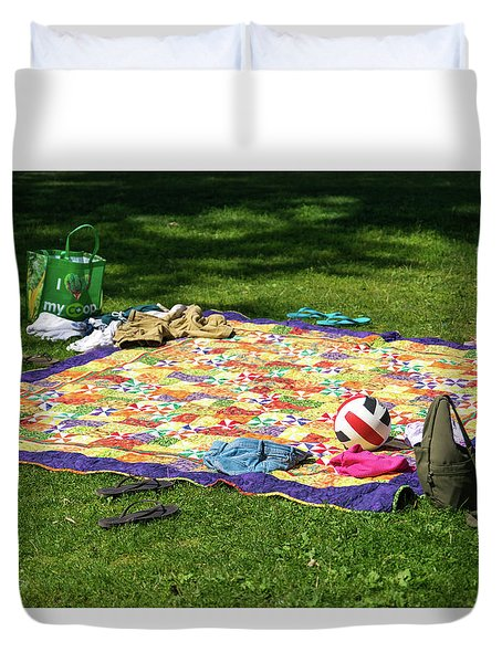 Barefoot In The Grass Duvet Cover