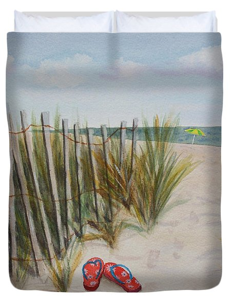 Barefoot On The Beach Duvet Cover