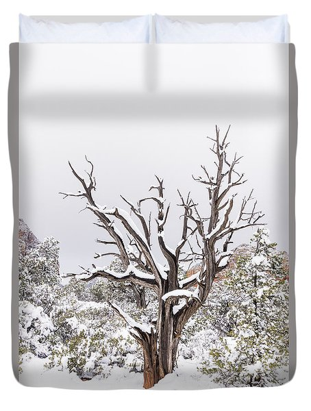 Bark And White Duvet Cover