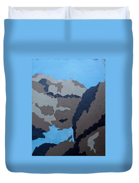 Barker Dam Abstract Duvet Cover