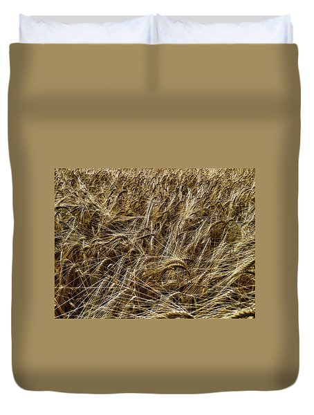 Duvet Cover featuring the photograph Barley by RKAB Works