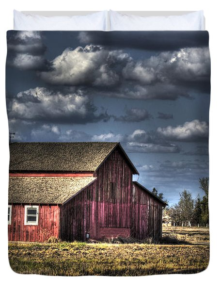 Barn After Storm Duvet Cover by Jim And Emily Bush