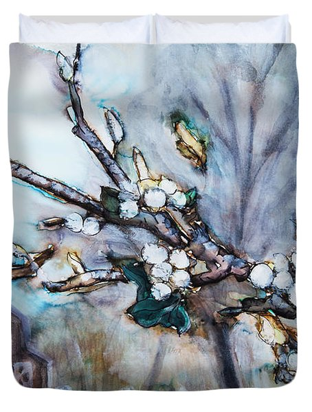 Barn And Blossoms Duvet Cover by Tara Thelen