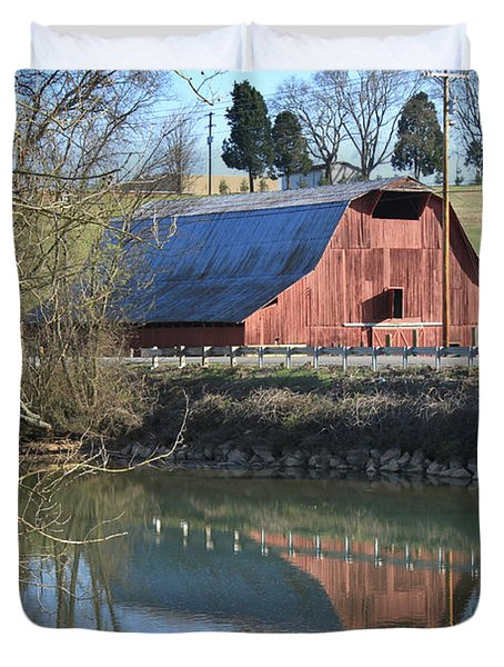 Barn And Reflections Duvet Cover