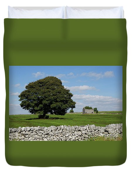 Barn And Tree Duvet Cover by Steev Stamford