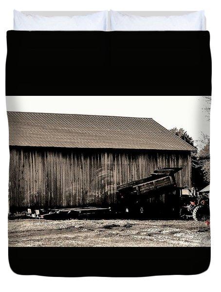 Barn And Truck Duvet Cover