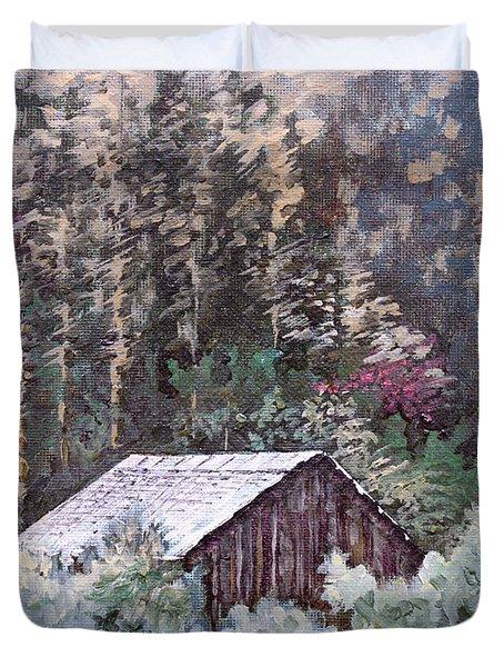 Barn At Cades Cove Duvet Cover by Todd A Blanchard
