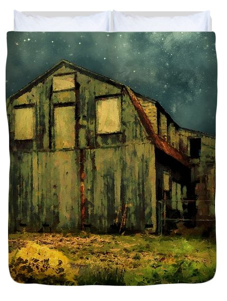 Barn By The Beach Duvet Cover by RC deWinter