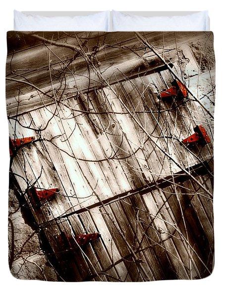 Barn Door Duvet Cover by Julie Hamilton