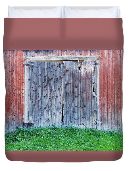 Barn Door Duvet Cover by Tom Singleton