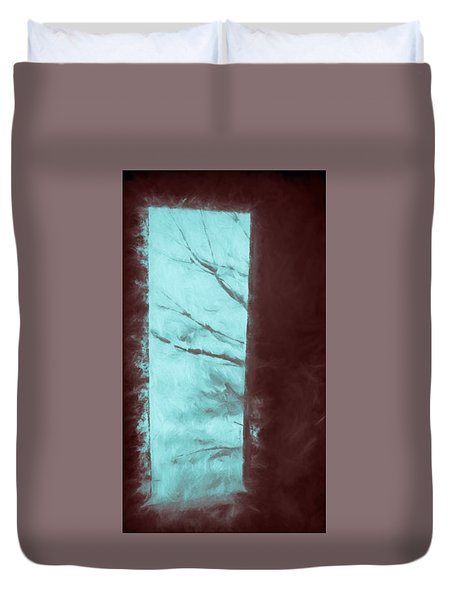 Duvet Cover featuring the photograph Barn Doorway by Kathy Bassett