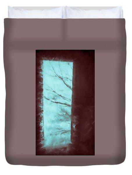 Barn Doorway Duvet Cover by Kathy Bassett
