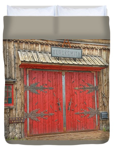 Barn Excelsior In Buena Vista, Colorado  Duvet Cover