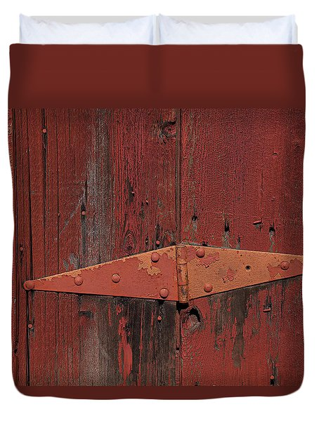 Barn Hinge Duvet Cover by Garry Gay