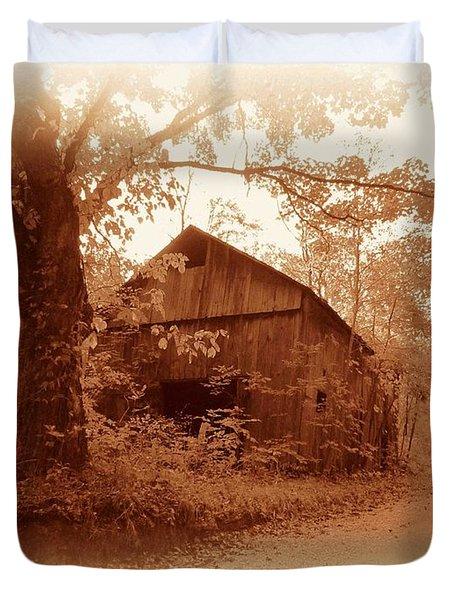 Barn Hocking Co Ohio Sepia Duvet Cover
