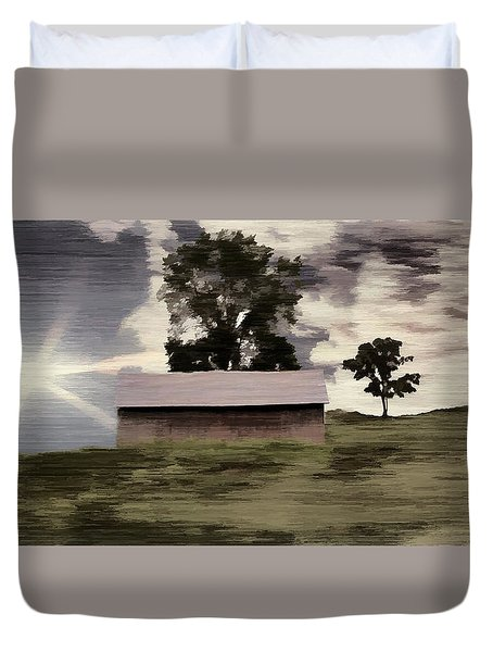 Barn II A Digital Painting Duvet Cover