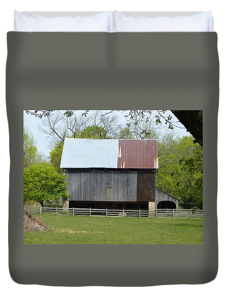 Duvet Cover featuring the photograph Barn Of Fair Hill by Donald C Morgan