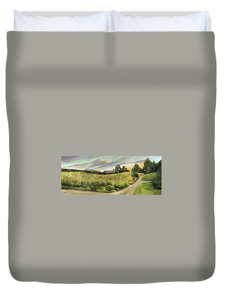 Barn On The Ridge Duvet Cover
