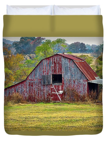 Barn On White Oak Road 2 Duvet Cover