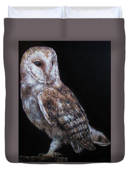 Barn Owl Duvet Cover by Cherise Foster