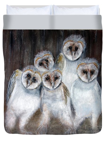 Barn Owl Chicks Duvet Cover