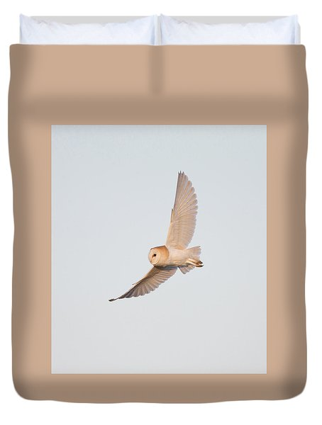 Barn Owl Hunting Duvet Cover