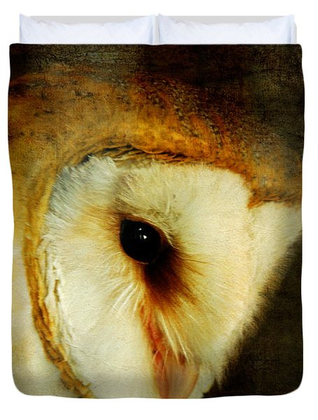 Barn Owl Duvet Cover by Lois Bryan