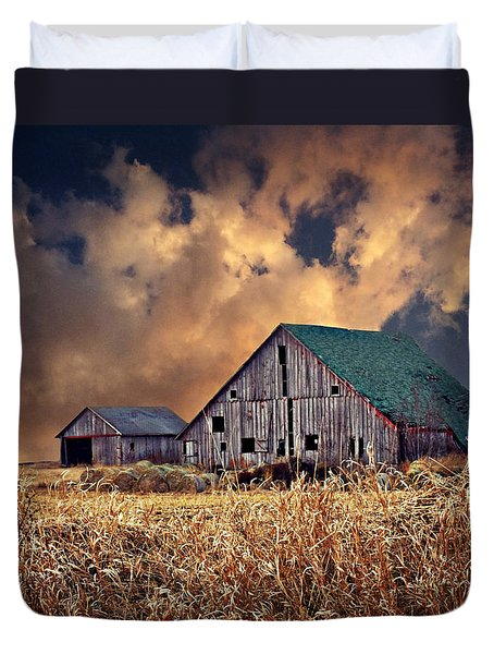 Barn Surrounded With Beauty Duvet Cover