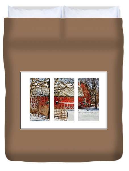 Barn Triptych Duvet Cover