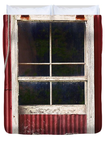 Barn Window And Rope Duvet Cover