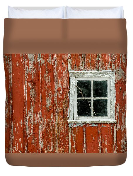 Duvet Cover featuring the photograph Barn Window by Dan Traun