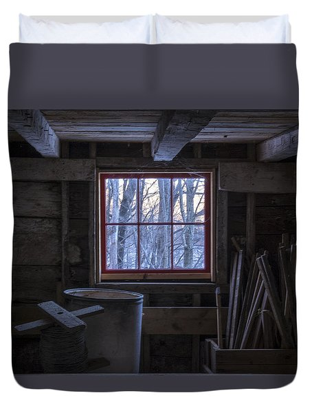 Barn Window II Duvet Cover by Tom Singleton