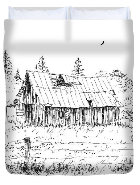 Barn With Skylight Duvet Cover