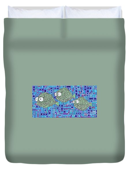 Barnacle Fish Duvet Cover