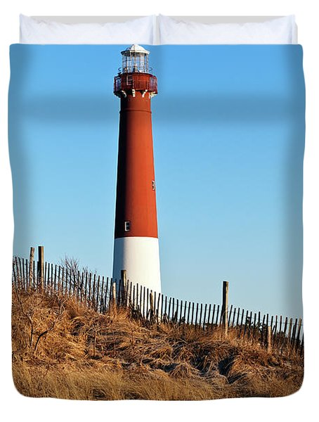 Barnegat Lighthouse Nj Duvet Cover by John Greim