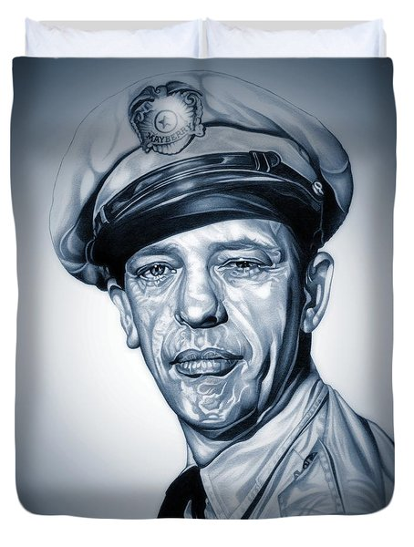 Barney Fife Duvet Cover by Fred Larucci